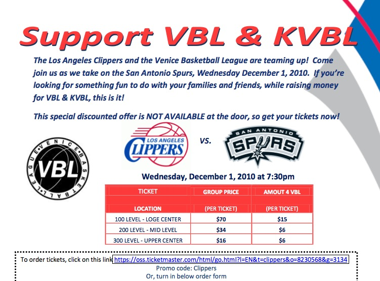 CLIPPERS AND VBL @ STAPLES CENTER