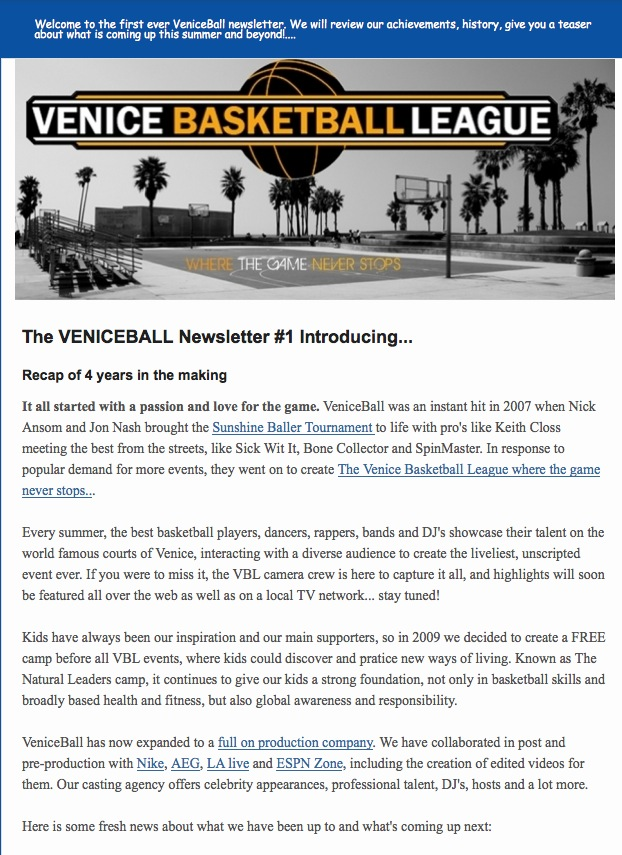 What is VENICEBALL!?