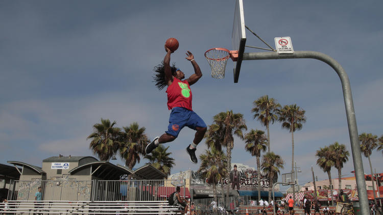 Kwame Making front page of Sports Section in LA Times