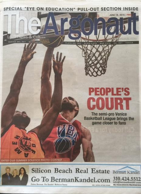 VBL gets front Page in Argonaut Newspaper