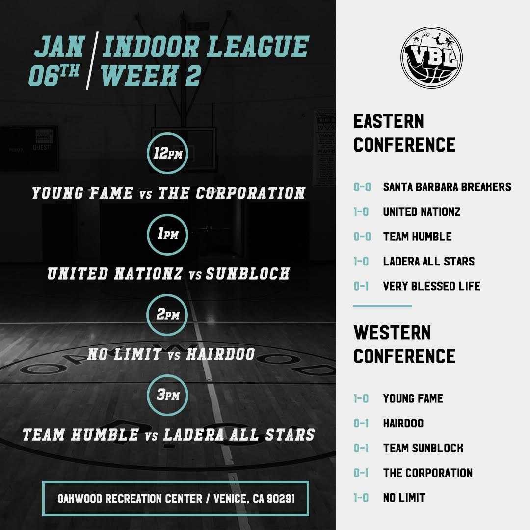 Week 2 VBL INDOOR LEAGUE