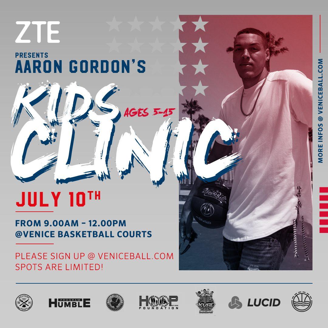 Aaron Gordon DUNKFEST and KIDS CLINIC