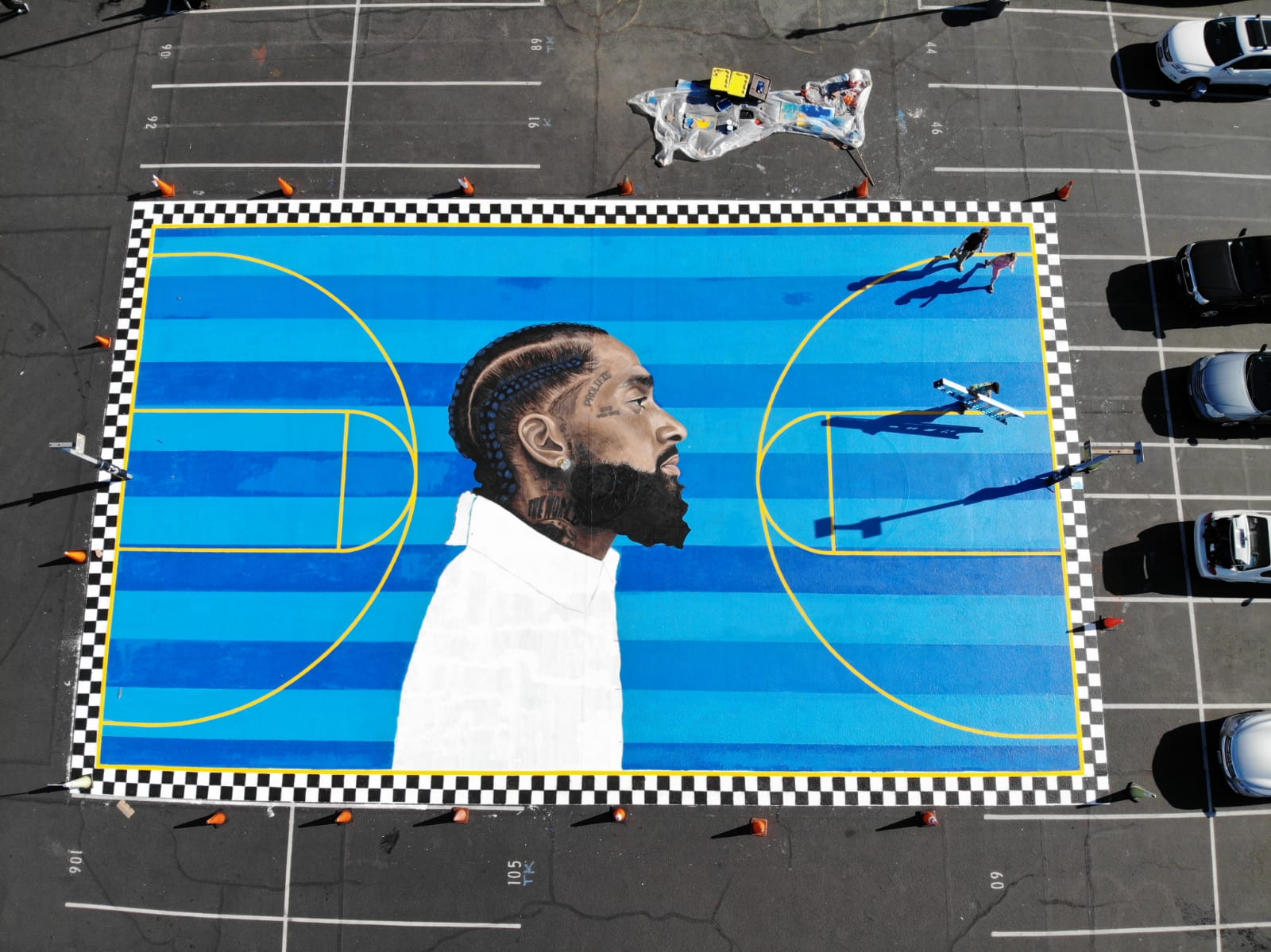 Nipsey Hustle Court Inauguration
