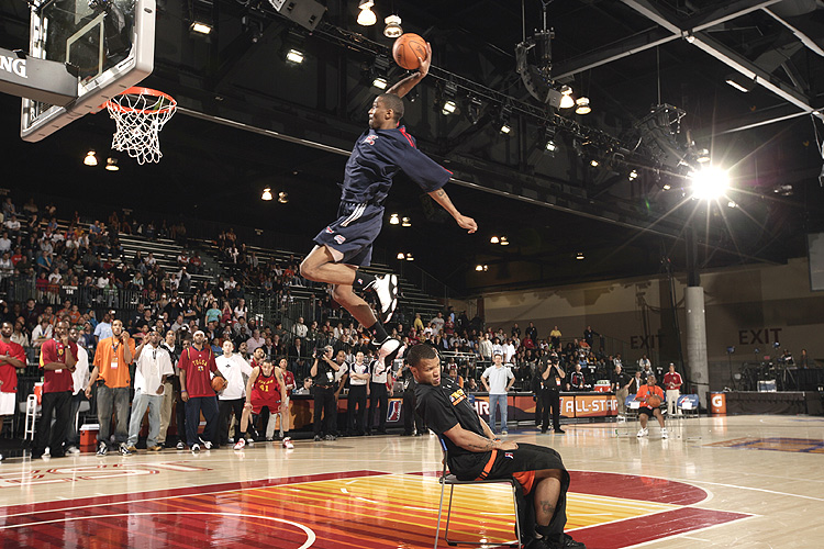 We needed someone like James White in the NBA dunk contest…