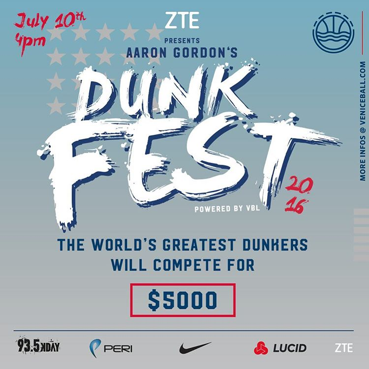 AG DUNKFEST  SCHEDULE – SIGNUPS + VIP PACKAGE & PRESS RELEASE