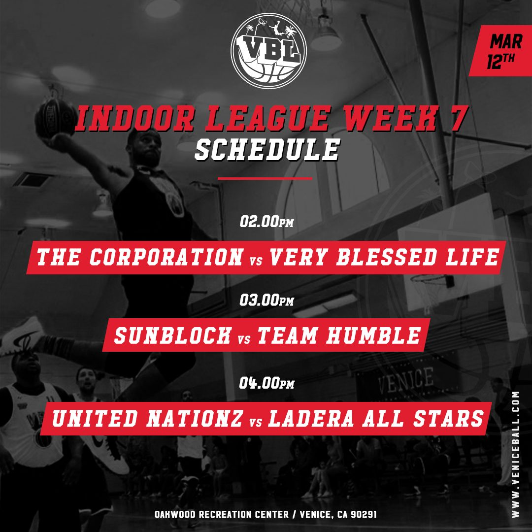VBL week 7 Schedule + Video Recap